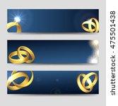 horizontal wedding banners...   Shutterstock .eps vector #475501438