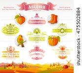 thanksgiving autumn icon set... | Shutterstock .eps vector #475502884
