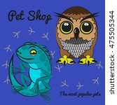 color flat icons of pet shop | Shutterstock .eps vector #475505344
