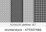 seamless line patterns set.... | Shutterstock .eps vector #475507486