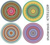 set of ornament multicolor card ... | Shutterstock .eps vector #475511539