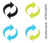 arrow refresh  circular vector