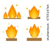 fire flame hot burn and fire... | Shutterstock .eps vector #475514764