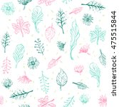 seamless abstract floral and... | Shutterstock .eps vector #475515844