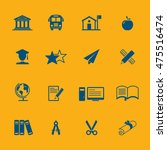 vector education icons set | Shutterstock .eps vector #475516474