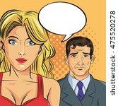 woman man male female bubble... | Shutterstock .eps vector #475520278