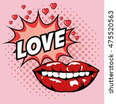 love mouth lips hearts... | Shutterstock .eps vector #475520563