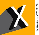 """white volume letter """"x"""" with a... 
