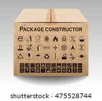 vector package box isolated on... | Shutterstock .eps vector #475528744