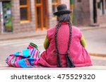 local woman sitting at plaza de ... | Shutterstock . vector #475529320