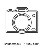 flat design photographic camera ...