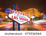 welcome to fabulous las vegas... | Shutterstock . vector #475536964