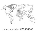 political world map | Shutterstock .eps vector #475538860