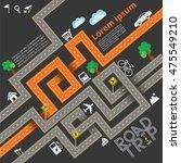 design road   street template... | Shutterstock .eps vector #475549210