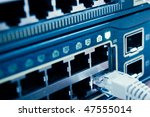 network cable connected to a... | Shutterstock . vector #47555014