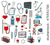 medical vector icons. hospital... | Shutterstock .eps vector #475551730