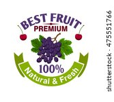 fruits label template. natural... | Shutterstock .eps vector #475551766