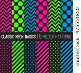 classic neon colors vector...