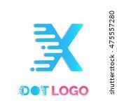 letter x logo design vector... | Shutterstock .eps vector #475557280