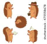 vector set of cartoon images of ... | Shutterstock .eps vector #475558678