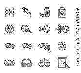 vector line optometry icon set | Shutterstock .eps vector #475561906