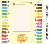 art supplies set vector... | Shutterstock .eps vector #475567384