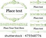 vector set  calligraphic design ... | Shutterstock .eps vector #475568776