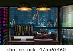 back side of sitting... | Shutterstock . vector #475569460