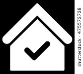 valid house icon. glyph style...
