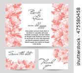 romantic invitation. wedding ... | Shutterstock .eps vector #475580458