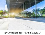 trees and blue sky reflected on ... | Shutterstock . vector #475582210