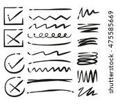 check marks  underlines | Shutterstock .eps vector #475585669