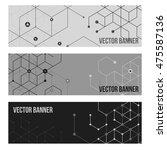 abstract vector line background.... | Shutterstock .eps vector #475587136
