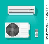 air conditioner vector set... | Shutterstock .eps vector #475594414