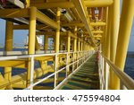 offshore oil and gas industrial ... | Shutterstock . vector #475594804