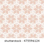 abstract geometric pattern with ... | Shutterstock .eps vector #475596124