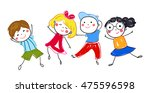 group of sketch kids | Shutterstock .eps vector #475596598