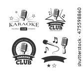vintage karaoke vocal party... | Shutterstock .eps vector #475598860