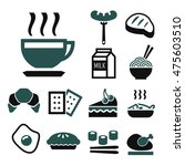 breakfast icon set | Shutterstock .eps vector #475603510