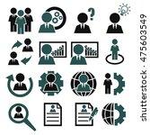 businessman icon set | Shutterstock .eps vector #475603549