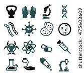 biohazard  toxic icon set | Shutterstock .eps vector #475603609