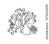 modern christian wedding couple ... | Shutterstock .eps vector #475610290