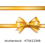 bright golden ribbon bow on... | Shutterstock . vector #475612348