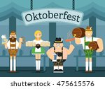 vector set of oktoberfest... | Shutterstock .eps vector #475615576