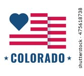 love colorado state with usa... | Shutterstock .eps vector #475618738