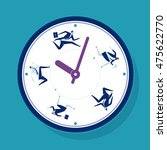 time pressure. business team is ... | Shutterstock .eps vector #475622770