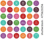wedding gay vector icons and... | Shutterstock .eps vector #475623256