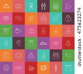 wedding gay vector icons and... | Shutterstock .eps vector #475623274