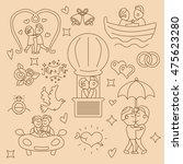 wedding gay vector set with... | Shutterstock .eps vector #475623280