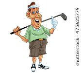 golfer man cartoon vector... | Shutterstock .eps vector #475625779